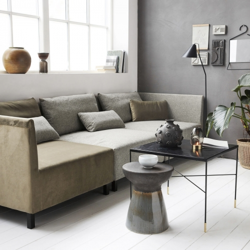 House Doctor - Box Lounge Ecksofa / Velours Sand