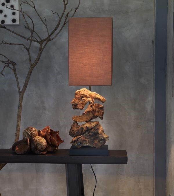 Danish Lights Design Tischlampe aus Treibholz HIGHLAND