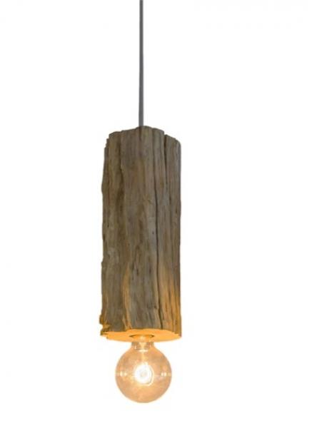 Pendelleuchte Holz Hängelampe Hängeleuchte PENDANT aus Treibholz GI Design NEU