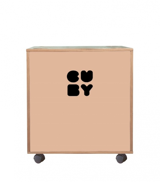 Carnival Toy Box Pink: Storage Box Toy Box Cuby On Casters, Stackable